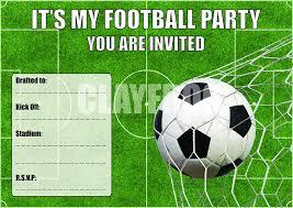 Futbol Personalizado Invitaciones Fiesta De Cumpleanos Con Sobres