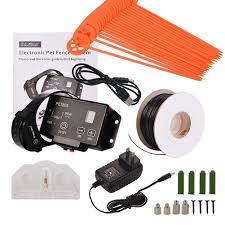 Advanced High Performance Electronic Dog Fence System Wireless Pet Containment System With Radio And In Ground Waterproof Collars Dog Fence Wireless Dog Fence