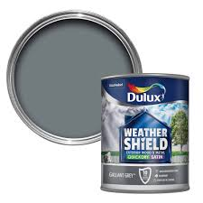 Dulux Weathershield Gallant Grey Satin Metal Wood Paint 0 75 Departments Diy At B Q