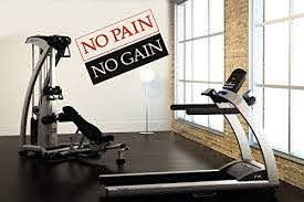 Amazon Com Yttbuy Gym Wall Decal No Pain No Gain Wall Decal Gym Decor Workout Fitness Exercise Sign Workout Room Wall Art Gym Workout Motivation Quote For The Home Gym Home
