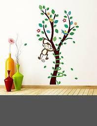 Cute Monkey Big Tree Wall Decal Sticker Baby Nursery Boy Girl Home Decor Ebay