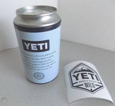 Yeti Limited Edition Pop Top Storage Can With Here S To The Wild Sticker New 1796474903