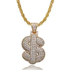 symbol diamonds pendant necklaces for