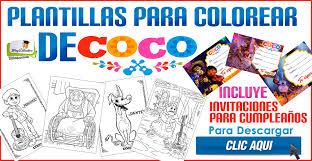 Plantillas Para Colorear De Coco La Pelicula Incluye Invitaciones
