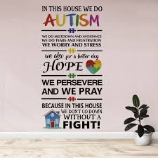 Home Art Advocacy Message To Fight Autism House Of Hope Vinyl Wall Decal Quotes 20 X 40 Removable Colorful House Puzzle Heart Decorative Design Bedroom Living Room Adhesive Decoration Sticker