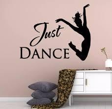 Fun Just Dance Girl Text Vinyl Wall Stickers For Girl Room Vinyl Decals Mural Female Dancer Wall Sticker Wall Decal N371 Wall Stickers Aliexpress