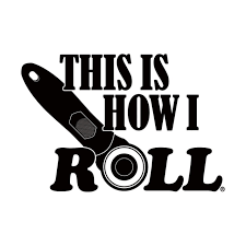 This Is How I Roll White Vinyl Window Decal Heartbeat Quilting