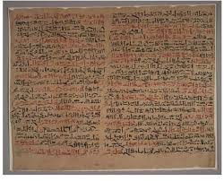 Columns XII and XIII of The Edwin Smith Papyrus are shown ...