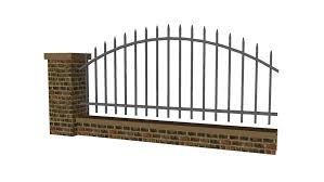 Brick And Steel Fence 3d Warehouse