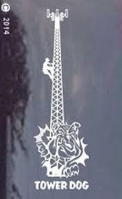 Tnt Monopole Tower Dog Die Cut Window Decal Sticker