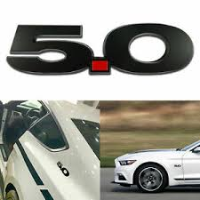 Black Red 5 0 Emblem Fender Badge Decal Sticker For Ford Mustang Gt Coyote 5 0l Ebay