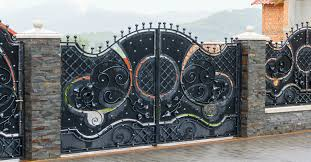 Wrought Iron Gate And Steel Fence What S The Difference