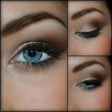 makeup for blue eyes and brown hair you