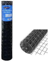 Amazon Com Mtb Black Pvc Coated Welded Wire Mesh Garden Economy Fence 48 Inch X 25 Foot 3 Inch X 2 Inch 16ga Garden Outdoor
