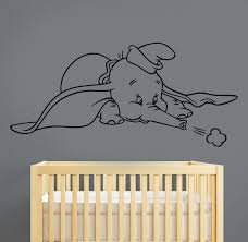 Dumbo Wall Sticker Vinyl Decal Disney Movie Art Decorations Etsy