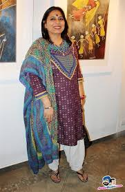 Epic on Rock Shelters Exhibition -- Abha Singh wife of former IPS officer Y  P Singh Picture # 260758