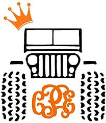 Jeep Crown Monogram Decal For Cars Yeti Laptops And Much More Jeep Life Jeep Girl Jeep Life Bow Monogram Jeep Crew Crown Amazon Co Uk Diy Tools