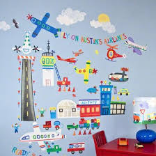Oopsy Daisy Airport Peel And Place Wall Decal Wayfair