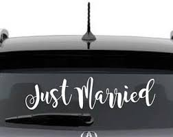 Just Married Cling Etsy