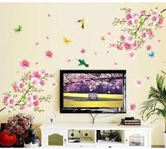 Amazon Com Livegallery Pink Cherry Blossom Tree With Butterfly Vinyl Art Wall Decal Pink Cherry Blossom Tree Wall Decal Flower Floral Wall Sticker With Butterfly Vinyl Art Wall Decal Wall Decal Mural Home