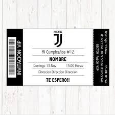Invitacion Cumpleanos Juventus Juventus Cumple Cumpleanos