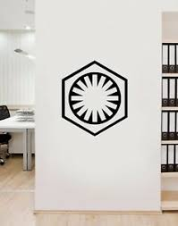 The First Order Symbol Star Wars Vinyl Wall Art Decal Sticker Lsfo1 Ebay