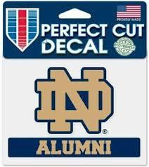 Notre Dame Fighting Irish Alumni 5 Perfect Cut Decal Window Laptap Car Truck Ebay