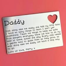 wallet card present dad daddy keepsake