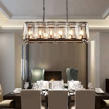 modern rectangle crystal chandeliers
