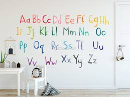 Watercolor Alphabet Wall Decal Sticker Wall Decals Wallmur