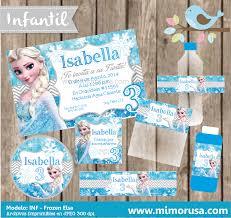 Kit Imprimible Frozen Elsa Invitacion Cumpleanos Nino