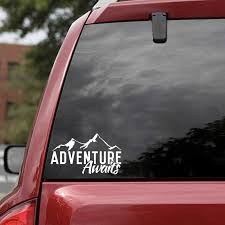 Car Stickers 15 8 7cm Fashion Adventure Awaits Decal Travel Explore Outdoors Vinyl Sticker Decals Car Decor Car Accessories Car Stickers Aliexpress