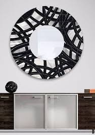 silver mirrored wall art interiors