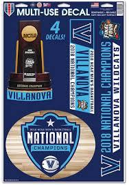 Villanova Wildcats 2018 National Champion Auto Decal Blue 5716460