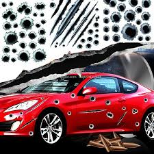2020 Hot Car Decals Fake Bullet Holes Funny Car Helmet Stickers Decals Car Styling 3d Bullet Hole Simulation Scratch Decal Waterproof Stickerbomb From Supersticker 2 02 Dhgate Com