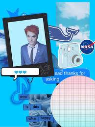 Gerard Blue Edit | KILLJOYS (My Chemical Romance) Amino