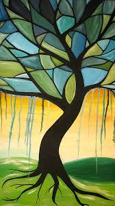 stain glass tree painting by ann