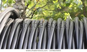 Big Scroll Black Plastic Pipes Nature Stock Photo Edit Now 1476035855