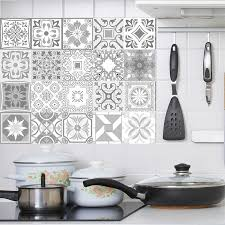 Decorative Retro Moroccan Tiles Pvc Tile Stickers Grey Color Wall Art Decal Adhesive Waterproof Kitchen Backsplash Bathroom Deco Wall Stickers Aliexpress