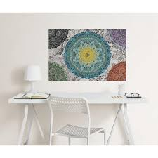 Wall Pops 24 In X 36 In Paradise Mandala Coloring Wall Decal Wpk2181 The Home Depot