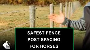 How Far Apart Should Posts Be Spaced For Horses Horse Fence Faqs