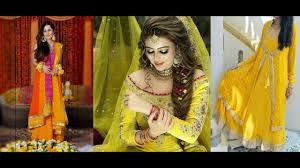 mehndi dress design bridal