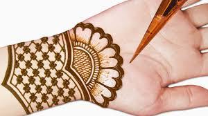 mehndi design front of hand