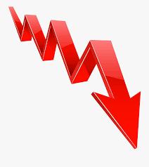 Transparent Red Arrow Transparent Png - Recession Clip Art Png ...