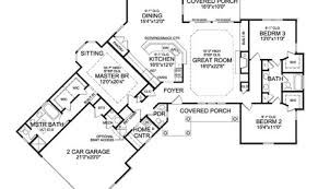 eplans country house plan angled ranch