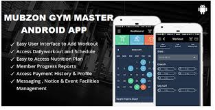 mubzon gym master mobile android app