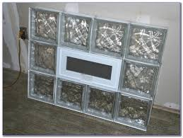 glass block window with dryer vent
