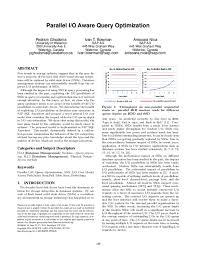 PDF) Parallel I/O aware query optimization | Ani Nica - Academia.edu