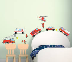 Fire Truck Firefighter Wall Sticker Decals Fire Truck Wall Decor Walmart Com Walmart Com