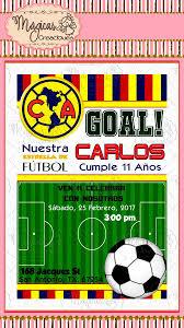 Invitacion Digital Cumpleanos Ninos Futbol America 80 00 En